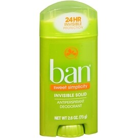 Ban Anti-Perspirant Deodorant Invisible Solid Sweet Surrender 2.60 oz