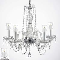 Crystal Chandelier Lighting With Candle Votives H25 x W24 For Indoor/Outdoor Use