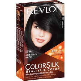 Revlon ColorSilk Beautiful Color, Soft Black [11] 1 ea