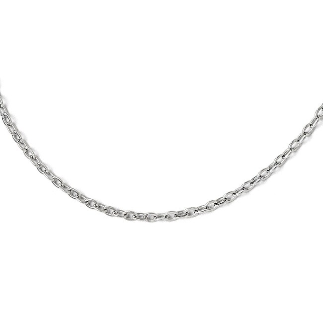 Italian Sterling Silver Cable Chain with 2in ext