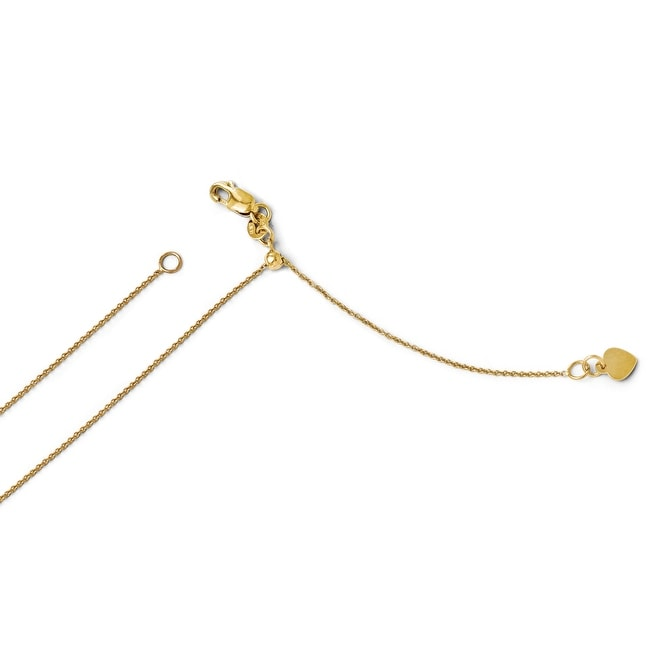 Italian 14k Gold Adjustable Cable Chain - 22 inches