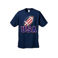 Men's T-Shirt USA Flag Football Game Pride American Sports Bar Beer Patriotic - Thumbnail 4