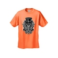 MEN'S BIKER T-SHIRT SKULL WITH TOP HAT CROSSED PISTOLS & ROSES S-XL 2X 3X 4X 5X - Thumbnail 4