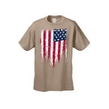 MEN'S AMERICAN FLAG T-SHIRT USA Ripped Distressed Flag STARS & STRIPES S-5XL TEE - Thumbnail 0