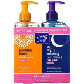 CLEAN & CLEAR Morning Burst/Night Relaxing Cleansing Face Wash Pack 1 ea