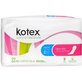 Kotex Ultra Thin Pads Regular Unscented 22 Each