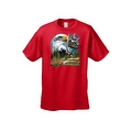 Men's T-Shirt Bald Eagle in Nature USA Forever Freedom American Heritage Tee - Thumbnail 2