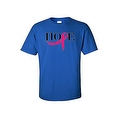 UNISEX T-SHIRT 'Pink Ribbon of Hope' SUPPORT BREAST CANCER AWARENESS TEE - Thumbnail 0