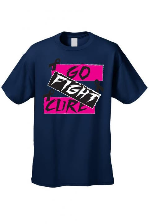 c7ea7001e115 Unisex T Shirt Go Fight Cure Breast Cancer Support Awareness Pink Ribbon Tee