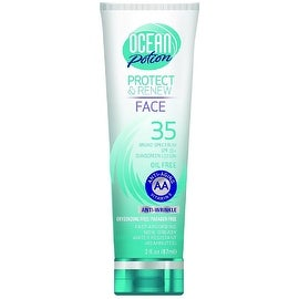 Ocean Potion Protect & Renew Face Sunscreen Lotion, SPF 35 3 oz