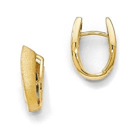 Sterling Silver Gold-plated Textured Hoop Earrings