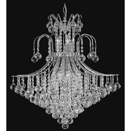 French Empire Crystal Chandelier Lighting H35 x W31