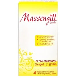 Massengill Extra Cleansing Disposable Douche, Vinegar and Water, 4 ea, 4.5oz