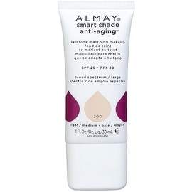 Almay Smart Shade Anti-Aging Skintone Matching Makeup, Light to Medium [200] 1 oz
