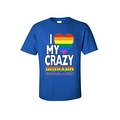 Men's T-Shirt I Love My Crazy Gay Husband LGBT HOMOSEXUAL Pride Unisex - Thumbnail 5