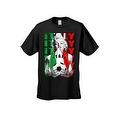 MEN'S SPORTS T-SHIRT MARILYN ITALY SOCCER TEAM FLAG FUTBOL FOOTBALL TEE S-5XL - Thumbnail 0