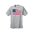 MEN'S AMERICAN FLAG T-SHIRT USA Ripped Distressed Flag STARS STRIPES HORIZONTAL - Thumbnail 4