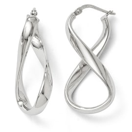 Italian Sterling Silver Polished Twisted Hoop Earrings