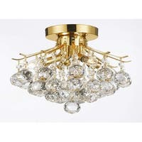 Gold Finish Crystal Chandelier Lighting With 4 Lights Lighting