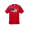 Men's USA Flag T Shirt Patriotic Country Pride Stars & Stripes Proud American - Thumbnail 3