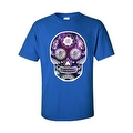 Men's T-Shirt Funny Sugar Skull Purple Galaxy Hipster Day of the Dead Victorian Tee - Thumbnail 8