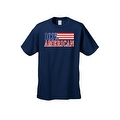 Men's T-Shirt USA Flag Pride 100-percent American Stars & Stripes Old Glory Patriotic Tee - Thumbnail 2