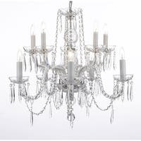 Crystal Icicle Waterfall Chandelier Lighting Dining Room Chandelier Lighting H25 x W24