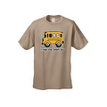 MEN'S FUNNY T-SHIRT I Ride the Short Bus YELLOW SCHOOL BUS COMIC COOL KIDS S-5X - Thumbnail 8