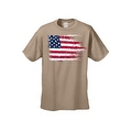 MEN'S AMERICAN FLAG T-SHIRT USA Ripped Distressed Flag STARS STRIPES HORIZONTAL - Thumbnail 3