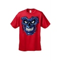 Men's T-Shirt Metallic Robotic Blue Skull Skeleton Wired Terminator Graphic Tee - Thumbnail 2