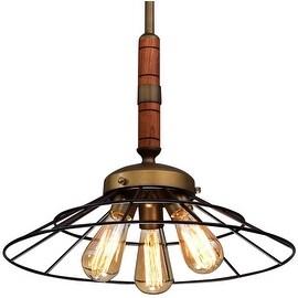 Wood and Metal vintage industrial pendant lamp light chandelier