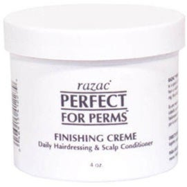 Razac Perfect for Perms Finishing Creme, Daily Hairdressing & Scalp Conditioner, 4 oz