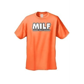 Men's Funny T-Shirt Milf Man I Love Fishing Adult Sex Humor Fish Joke Hunting