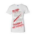 Women's Juniors T-Shirt Keep Calm &… Run! Zombies are Coming!!! Undead Tee - Thumbnail 4