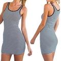 Women's Sundress Sleeveless Striped Camisole Tank Dress Beach Dress - Thumbnail 3