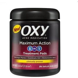 OXY Maximum Action 3-In-1 Treatment Pads 90 ea