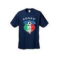 MEN'S SPORTS T-SHIRT Italy Soccer Team FLAG FUTBOL FOOTBALL S M L XL 2XL-5XL - Thumbnail 5