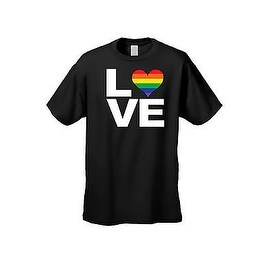 UNISEX T-SHIRT LGBT RAINBOW HEART FLAG GAY LESBIAN LOVE PRIDE HOMOSEXUAL TEE (More options available)