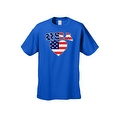 Unisex USA Flag T Shirt Patriotic Pride w/ Love Heart Red White & Blue American - Thumbnail 7