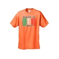 Men's Funny T-Shirt Made In Italy Humor Italian Pride Barcode Flag Jersey Shores - Thumbnail 6