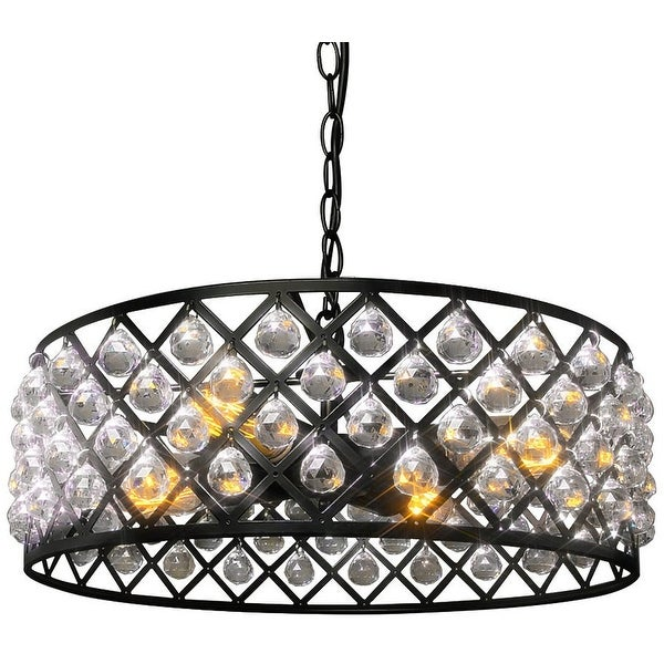 Vintage industrial crystal 4 light pendant lamp light chandelier