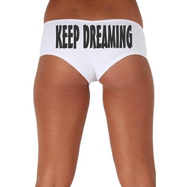 Women's Sexy Hot Booty Boy Shorts Keep Dreaming Slanted Black Bold Style Type Lingerie