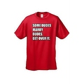 Men's Funny T-Shirt Some Dudes Marry Dudes Get Over It Rainbow Flag Gay Pride - Thumbnail 7