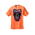 Men's T-Shirt Splattered Paint Colorful Skull W/ Shades Skeleton Graphic Tee - Thumbnail 4