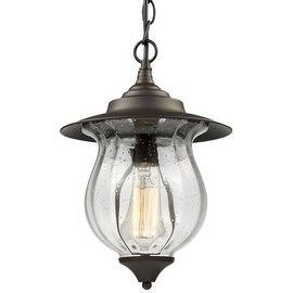 Outdoor foyer glass pendant lamp light