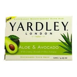 Yardley London Moisturizing Bar Fresh Aloe With Avocado Essence 4.25 oz