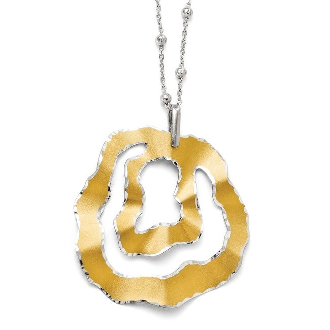 Italian Sterling Silver Gold-tone 18k Flash Plated Necklace