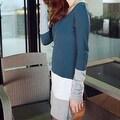 Autumn Winter Women Long Sleeve knit Bodycon Tops Slim Party Sweater Mini Dress - Thumbnail 1