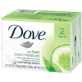 Dove Go Fresh Cool Moisture Beauty Bars, 4 oz bars, 2 ea
