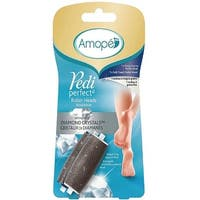 Amope Pedi Perfect Foot File Roller Heads Diamond Crystals Refills 2 Each